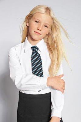 Блуза школьная белая с длинным рукавом Некст Размер 8 лет