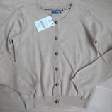 свитер девочке 7-8 л детский в школу котон новый с бирками на пуговицах Next Некст девочке беж