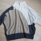 свитер кофта 7-8 л беж серая белая очень модная новая девочке River Island Ривер Айленд детская