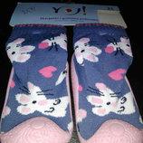 Носочки с резиновой подошвой для девочки