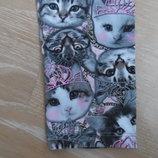 лосины детские 11-12 л кошки корона розовые серые George Джорж