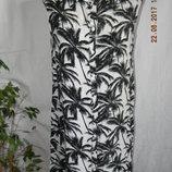 Вискозное платье-рубашка с принтом прямого кроя