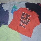 Футболки, шорты 116-122см, пакет вещей2.