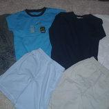 Футболки, шорты, реглан, брюки 116-122см, пакет вещей1.