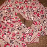 шаль платок Fabric Frontline Zürich оригинал шелк принт Жемчужные ракушки 66Х134