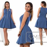 Платье женское, коттон, 48-54, 2 цвета