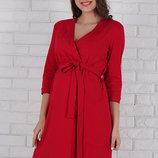 Халат для беременных и кормящих мам Libery , из хлопкового трикотажа, красный