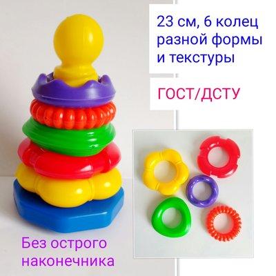 Развивающие игрушки, Пирамидка 23 см, пирамидки, кубики,сортеры