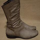 Комфортные кожаные сапоги мышиного цвета Durea Голландия 7 1/2 р.
