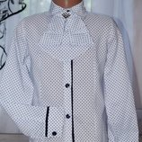Нарядная блузка в горох