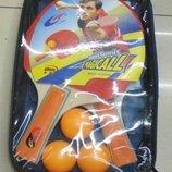 Теннис настольный 2 ракетки 3мяча сетка в сумке сумка BT-PPS-0030