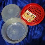 Емкость контейнеры кастрюля, блюдо для одновременного приготовления нескольких блюд в микроволновой
