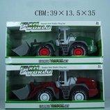 Трактор инерционный , 2 вида, в коробке 28,0 11,5 12,0см
