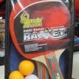 Теннис настольный 2 ракетки 3 мяча сумка BT-PPS-0027