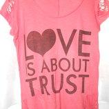 футболка.туніка M L з прорізами