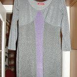 серебристое платье с люрексом