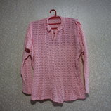 Кофта р. 52-63, вязка кружевная, акрил, женская распродажа нарядная, свитер лето