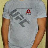 Футболка мужская Reebok UFC светло - серая.