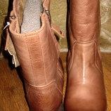 сапожки Blackstone,натуральная винтажная промасленая кожа ,цигейка,раз 40, 41
