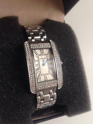 93e4be4f Шикарные женские часы Cartier, отличная реплика Cartier Tank Americain