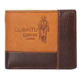 Мужской кошелёк Gubintu винтаж натуральная кожа