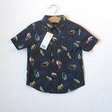 Новая рубашка в машинках для мальчика 2-4 лет
