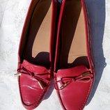 Оригинал подлинные туфли мокасины Max Mara р.38,5 -39 Италия яркие