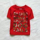 Яркая футболка для маленького модника. Baby. Размер 6-9 месяцев. Состояние новой вещи