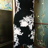 Платье чёрное с цветами 46р.Румыния