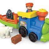 Fisher Price Музыкальный паровозик зоопарк Little People Choo-Choo Zoo Train