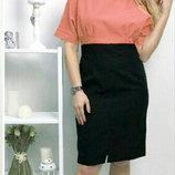 Шикарное платье креп-шифон, размер 48, цвет персиковый, мята, электрик