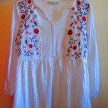 Большой выбор брендовых вещей Красивая Блуза Tu вышивка натуральная