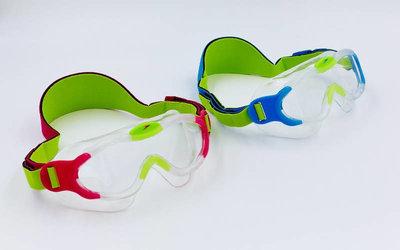 Очки для плавания детские полумаска Speedo 808763 Sea Squad Mask CP, TPR, неопрен 2 цвета