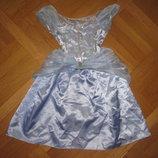 Детский карнавальный костюм принцессы Эльзы, Золушки - Синдереллы на 3-4года, до 104см Disney