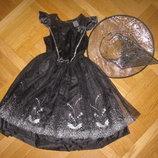 Детский карнавальный костюм Королевы ночи, Ведьмы или Паука на 7-8лет, 128см F F