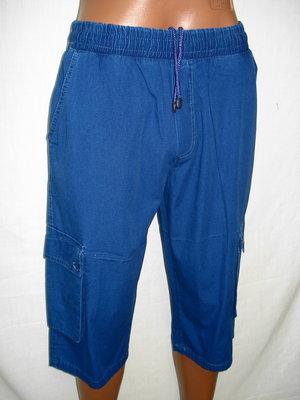 Капри мужские с карманами синие ,M,L,, размеp