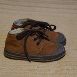 Легчайшие высокие кожаные кроссовки шоколадного цвета Gorila Испания 22 р.