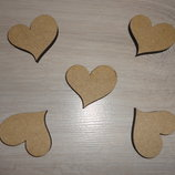 Заготовка - фигурка Влюбленное сердце. Декор для скрапбукинга