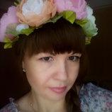 Шикарный веночек Валенсия авторская ручная работа, обруч, цветы, шифон