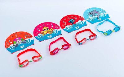 Набор для плавания детский очки шапочка Arena 92413 Awt Multi поликарбонат, TPR, силикон 4 цвет