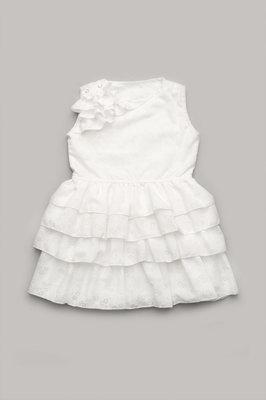 Платье для девочки 3-6 лет с оборками Айвори