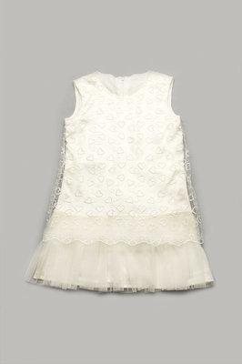 Платье нарядное для девочки 5-8 лет с гипюром