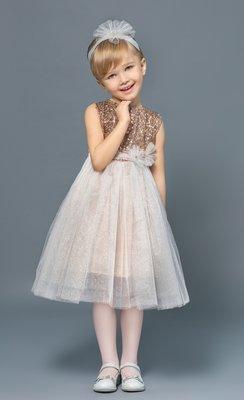 Платье нарядное для девочки 3-5 лет с пайетками