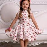 Платье юбка солнце Лён 110-140 р-р