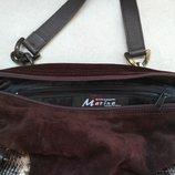 сумка Marina, итальянская, коричневая замша, оригинал