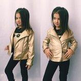 куртка косуха золото экокожа