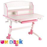 Растущая парта для школьника для дома FunDesk Volare II Pink