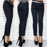 Женские летние стильные брюки 375 Коттон Орнамент в расцветках.