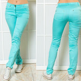 Женские летние стильные брюки 5271 Коттон Классика в расцветках.