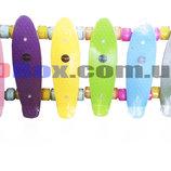 Скейт Пенни борд Penny board Кроха Astro 17 Светящиеся тихие колеса